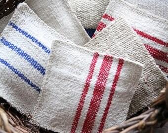 SALE Lavender Sachet with antique homespun linen, grain sack sachets