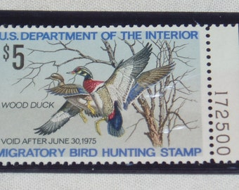 Federal Duck Stamp, RW41, Plate Number Single, Never Hinged