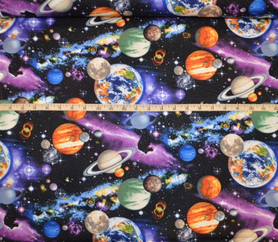 Timeless treasures the universe multi outer space for Timeless treasures galaxy fabric