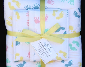 Baby Blanket Set with 2 Burp Cloths #1N-131