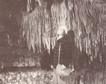 The Chapel Formations- 1940s Vintage Postcard- Cave of the Mounds- Blue Mounds, Wisconsin- Stalactites Stalagmites- Paper Ephemera