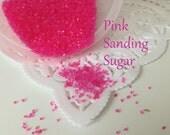 Sprinkles  Pink  Sanding Sugar  Jimmies.  Edible Sugar  Sprinkles  Cupcakes or Brownies . Cakes . Pink   Sprinkles (2 ounces)