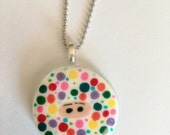Hand Painted Polka Dot Ninja Necklace