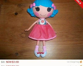 Lalaloopsy Doll Dress handmade flowers top and pink bottom