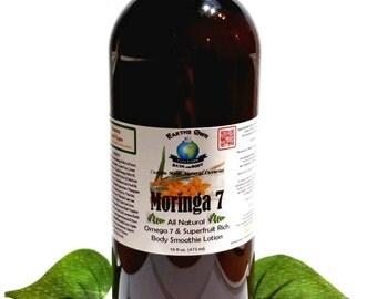 12 oz Moringa 7 All Natural Superfruit Rich Body Smoothie Lotion. Intense Hydration w/ Coconut Water & Moringa. Gluten Free, Vegan.