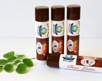 "Chai Latte ""Kiss of Moringa"" Lip Balm. Organic Moringa & Shea Beeswax Lip Care. Untinted. Stevia Sweetened. .15 oz."