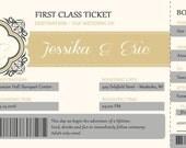 Boarding Pass Wedding Invitations, Travel Wedding Invitation, Plane Ticket, RUSH  Custom Listing for lferency