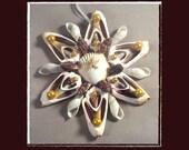 "RESERVED-RK Sea Shell Keepsake Ornament Accent #179 (Size 6.25""), Beach/Nautical/Coastal Decor, Keepsake Ornament/Wall Accent"