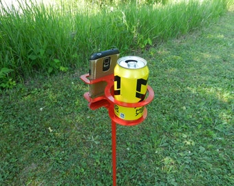 Outdoor Drink Holder - SET OF TWO - Camping Drink Holder - Fishing Drink Holder
