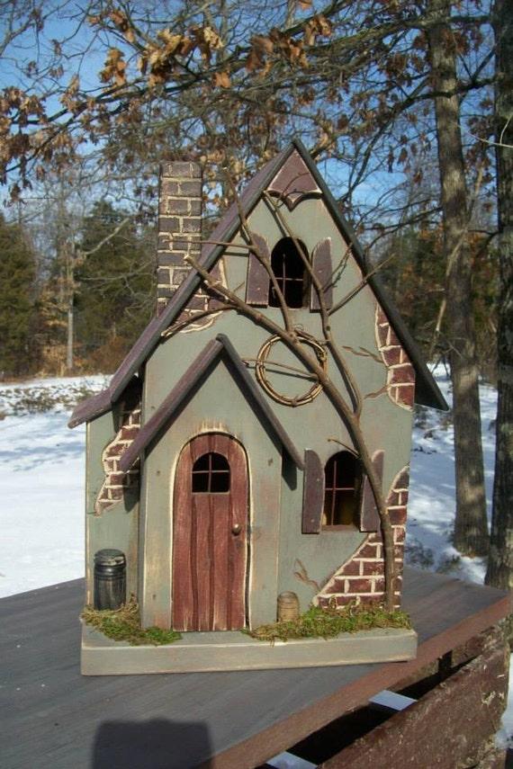 Bird dick house miniature sing turn