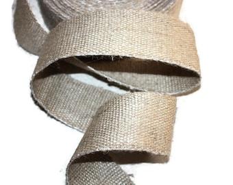 55 mm Jute Tape Natural - Burlap - Great for bag straps