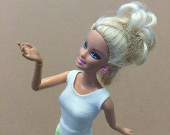 Beige Barbie shirt, Barbie clothes, handmade Barbie clothes