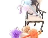 1/12 Scale Miniature Dollhouse Handmade Brassand Chiffon Parasols