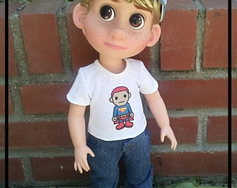 Jeans, tee and hat for dieney animators