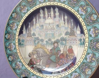 Vintage 1980's Villeroy and Boch The Russian Fairy Tales wall plate, In Search of the Firebird, Art plate, hanging plate, Horse plate Palace