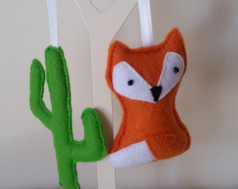 Fox & Cactus Decorations - Pack of 2!  On Sale