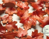12 Gumpaste Autumn Leaves for cake decorating, cupcakes, rustic weddings, and DIY wedding cakes