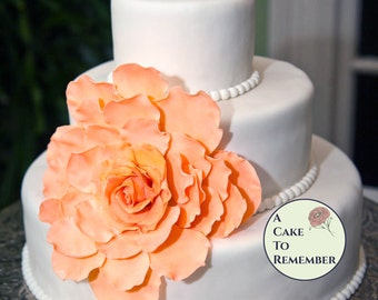 Large Gumpaste  Flower for Wedding Cakes, edible flower romantic wedding cake topper, expanded flower for cakes, DIY wedding cake