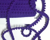 "5 Yards ""Purple"" BABY PomPom Trim, Ball Fringe"