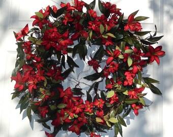 Summer  Wreath , Spring Wreath - Front Door Wreath -Year Round