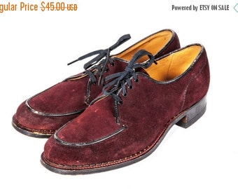 30% OFF 1940's Women's Suede Shoes Size 6