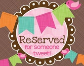 reserved for evelyn