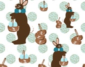 fabric, Parisian Chocolate Bunnies