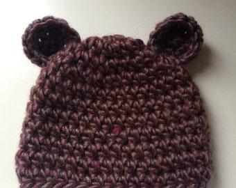 Newborn Baby Bear hat, cute baby gift, newborn photography prop, baby gift, baby shower gift
