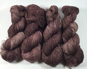 Merino Tweed Sock, hand dyed yarn, Superwash merino, color, Puddle Boots, 100 grams, tweed yarn, multicolored yarn, sock yarn, v