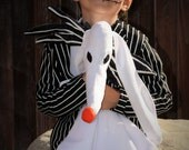 Zero Ghost Dog Nightmare Before Christmas Minky SecurityToy Blanket,Baby blankie,Baby zero dog lovey,Jack Skellington Zero costume