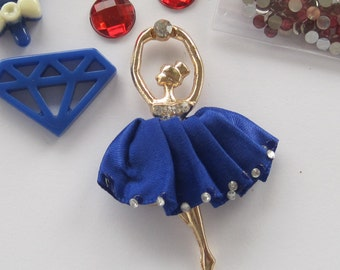 Blue Gold Red Bling DIY Cell Phone Jewelry Making