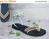 LAST SALE 20% OFF Gorgeous  Strappy Ankle Strap Handmade Leather Sandals Colorful 3 Colors - Rio