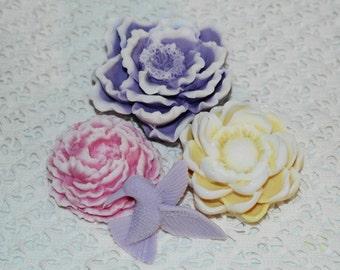Summer Garden Soap Gift Set ~ Goat's Milk Soap ~ Peony Soap ~ Magnolia Soap ~ Hummingbird Soap ~ Flower Soaps ~ Full Sized Garden Soaps
