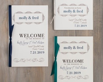 Simple wedding programs – Etsy