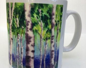 Gorgeous Old Newnham watercolour 10oz ceramic mug