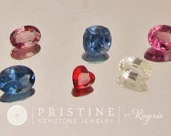 Wholesale Sapphire Lot 6.70 Carats Pink, Blue, Yellow Sapphire September Birthstone
