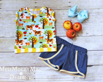 The Four Seasons Knit Top and shorts set Size 3 Ready to Ship