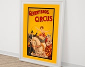 Vintage Circus Poster Reproduction - Home Decor Wall Art Children's Wall Decor