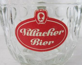 Vintage German Villacher Bier Glass Mug or Stein  box P