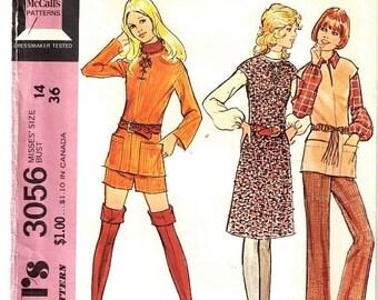 """McCall's 3056 Misses Jumper shorts Top Pants Size 14 Bust 36"""" Uncut Pattern- 3"""