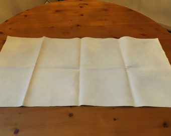 """Sale light creamy felt. Sewing, crafting.  32"""" x 15"""". excellent condition, no stains."""