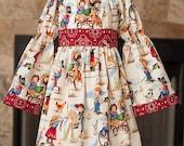 Cowgirl peasant dress