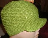 Custom Order - Crochet Army Green Brim Hats