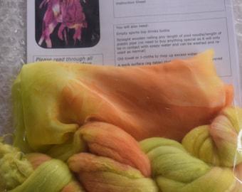 Hand-dyed Nuno Felting Scarf Kit