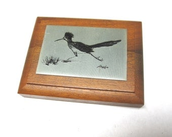 Roadrunner Etching Bayou Metallic Arts Road Runner