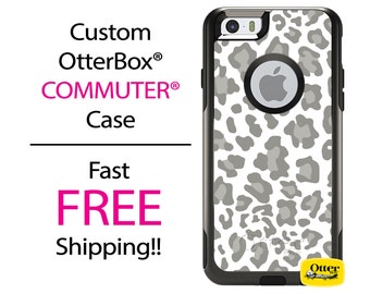 iPhone OtterBox Commuter Case for iPhone 7, 7 Plus, 6/6s, 6 Plus/6s Plus, 5/5s/SE, 5c Galaxy S7 S6 S5 Note 5 Custom Leopard Cheetah Case