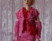 "for 16"" Ladies OOAK crochet SET ""Cute"" - Tonner Ellowyne Gene Ficon Dolls - AllforDoll STYLE"