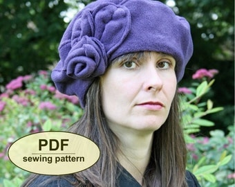 New: Sewing pattern to make the Bunham Beret - PDF pattern INSTANT DOWNLOAD