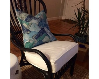 Chair Cushion in Custom Sizes and Fabrics