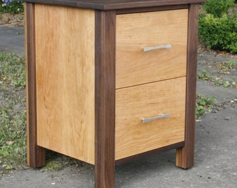BT020CW Hardwood Bedside Cabinet, 2 Inset Drawers, optional sizes available - natural color